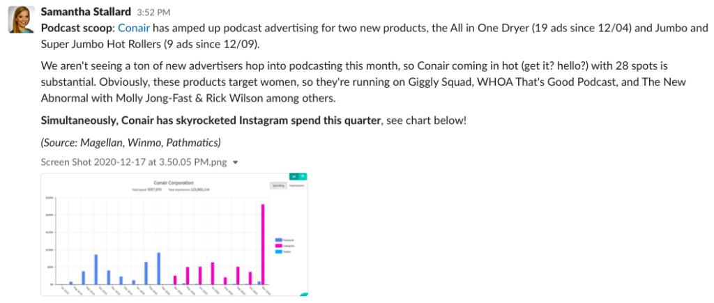 Podcast scoop