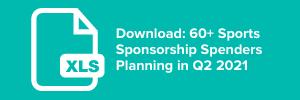 60+ Sponsorship Spenders Planning in Q2 2021