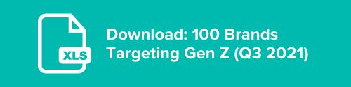 100 Brands Targeting Gen-Z in Q3 2021 (List Download)